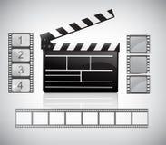 Placa de válvula do filme e filmstrip Foto de Stock