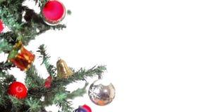 Placa de vídeo do feriado do Feliz Natal video estoque