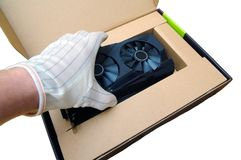 Placa de vídeo GPU do computador Imagens de Stock Royalty Free
