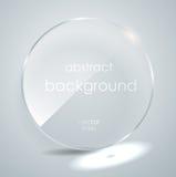 Placa de vidro com um lugar para inscrição Foto de Stock