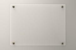Placa de vidro ou placa acrílica Fotos de Stock