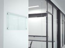 Placa de vidro transparente vazia rendição 3d Foto de Stock