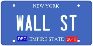 Placa de Wall Street Nueva York Fotografía de archivo