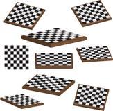 Placa de xadrez 3d ajustado   ilustração stock