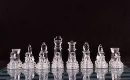 Placa de xadrez de vidro imagem de stock royalty free