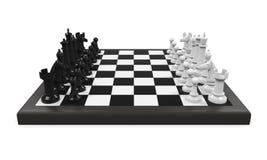 Placa de xadrez com partes de xadrez ilustração royalty free