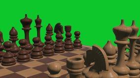 A placa de xadrez 3d rendeu na ilustração conservada em estoque alegre agradável fresca da imagem 4k do jogo de mesa novo verd ilustração royalty free