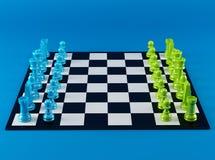 Placa de xadrez da cor ilustração stock