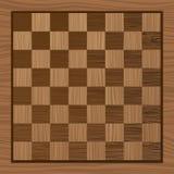 Placa de xadrez de madeira ilustração do vetor
