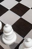 Placa de xadrez exterior sob a luz solar imagem de stock