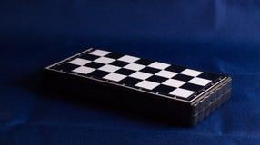 Placa de xadrez no fundo do tecido Fotografia de Stock