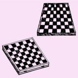 Placa de xadrez ou placa de verificadores Fotos de Stock