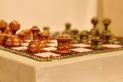 Placa de xadrez & penhores Imagens de Stock Royalty Free