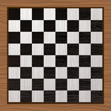 Placa de xadrez preto e branco ilustração royalty free