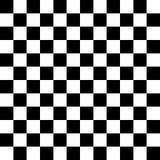 Placa de xadrez, teste padrão sem emenda Ilustração do vetor Branco preto ilustração royalty free