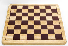 Placa de xadrez vazia de madeira Fotografia de Stock Royalty Free