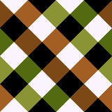 Placa de xadrez verde Diamond Background de Brown ilustração stock
