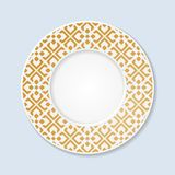 Placa decorativa com ornamento abstrato Imagens de Stock Royalty Free