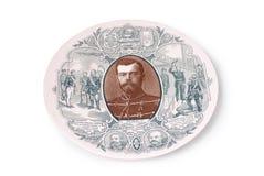 Placa decorativa com retrato fotografia de stock royalty free