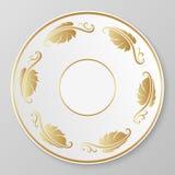 Placa decorativa do ouro do vetor Fotografia de Stock