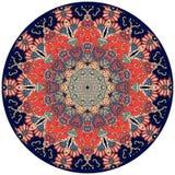 Placa decorativa no estilo indiano Flor - mandala ilustração stock