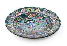 Placa decorativa tradicional oriental Fotos de archivo libres de regalías