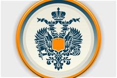 Placa del águila Foto de archivo libre de regalías
