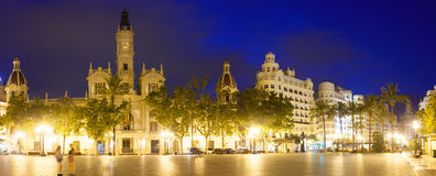 Placa del Ajuntament with City Hall. Valencia Stock Photography