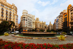 Placa del Ajuntament in Valencia, Spain Stock Image
