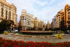 Placa del Ajuntament in Valencia, Spain Stock Image