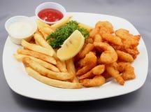 Placa del alimento frito Fotos de archivo