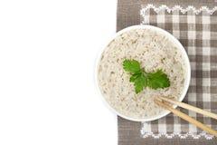 Placa del arroz cocinado Imagen de archivo