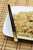 Placa del arroz frito Imagenes de archivo