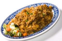 Placa del arroz frito Foto de archivo libre de regalías