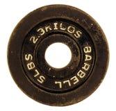 Placa del Barbell Fotos de archivo libres de regalías