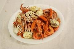 Placa del cangrejo Imagen de archivo libre de regalías