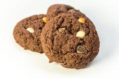 Placa del chocolate Chip Cookies Imagenes de archivo