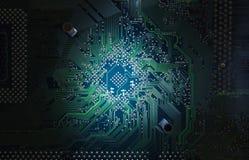Placa del circuito electrónico Imagenes de archivo