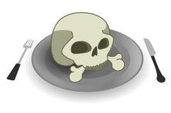 Placa del cráneo Fotografía de archivo