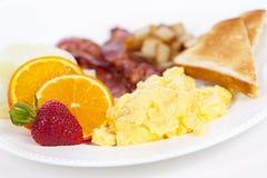 Placa del desayuno imagen de archivo
