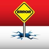 Placa del error Imagen de archivo libre de regalías
