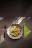 Placa del espagueti Foto de archivo libre de regalías