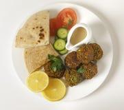 Placa del Falafel desde arriba Fotos de archivo