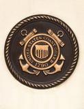 Placa del guardacostas de Estados Unidos Imágenes de archivo libres de regalías