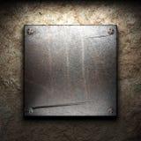 Placa del hierro en la pared ilustración del vector