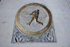 Placa del home run de Barry Bonds imagenes de archivo