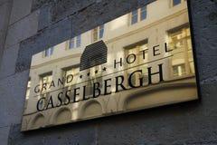 Placa del hotel de Casselbergh Fotos de archivo
