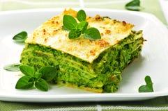 Placa del lasagna vegeterian Fotografía de archivo libre de regalías