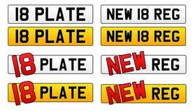 Placa 2018 del número de registro del coche Imágenes de archivo libres de regalías