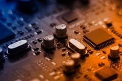 Placa del ordenador Fotografía de archivo